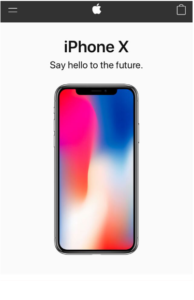 AppleIphoneX(mobile-first web design)