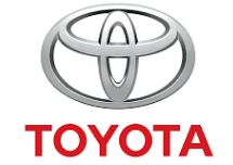 Toyota logo with hidden images