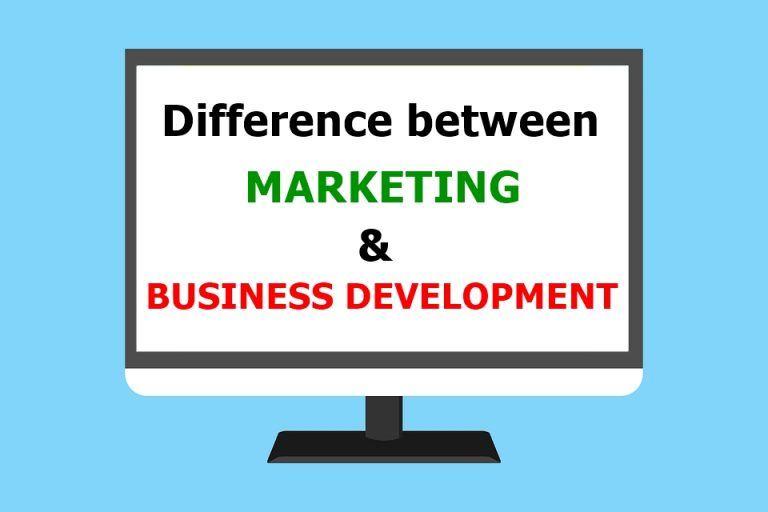 Difference Between Marketing and Business Development