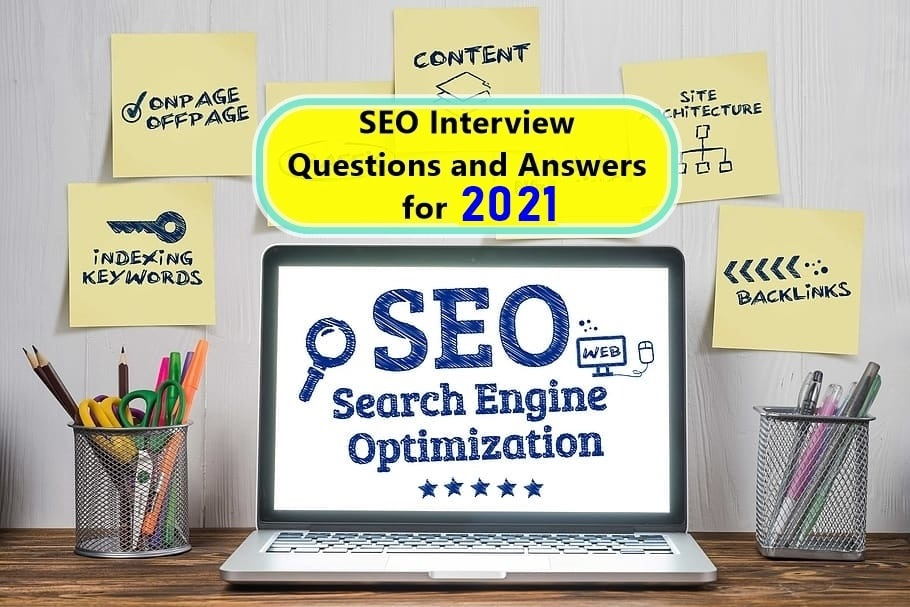 Featured image: SEO Interview Questions and Answers for 2021