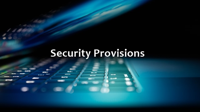 Security Provisions image