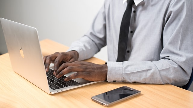 a man working on a laptop